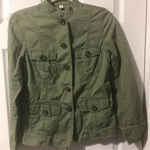 Banana Republic Military Style Utility Jacket Med